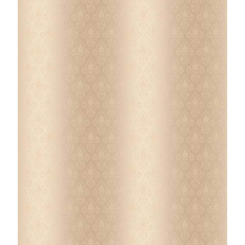 Charleston Cream and Beige Damask Pearl Wallpaper: Sample Swatch Only