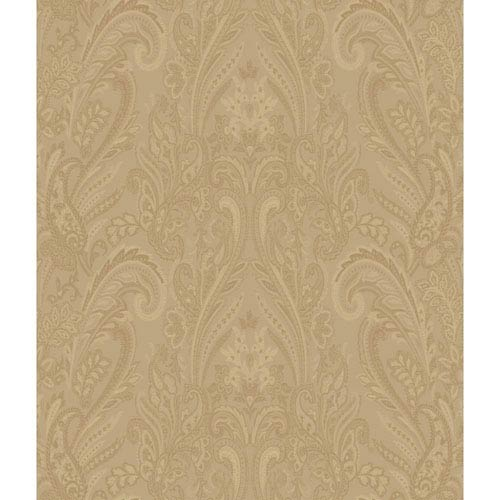Charleston Gold Paisley Texture Wallpaper