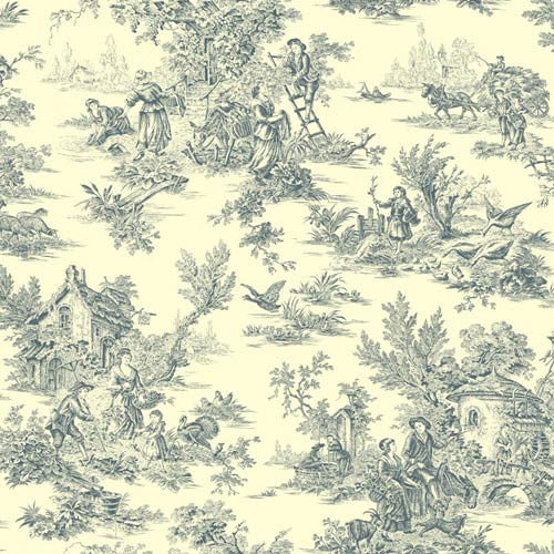York Wallcoverings Inspired by Color Navy and Cream Wallpaper: Sample Swatch Only