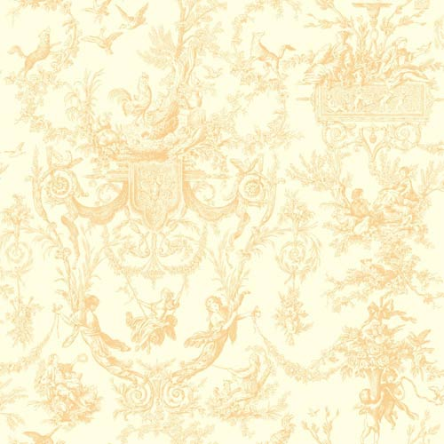 York Wallcoverings Inspired by Color Beige and White Wallpaper: Sample Swatch Only