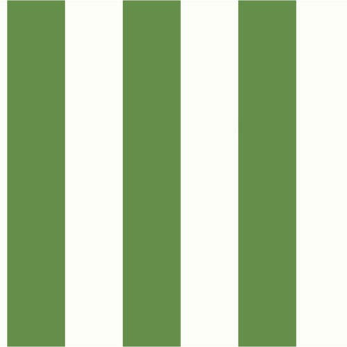 Ashford House Tropics Cream and Bright Green 3-Inch Stripe Wallpaper