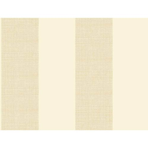 Ashford House Tropics Cream and Beige Grasscloth Stripe Wallpaper