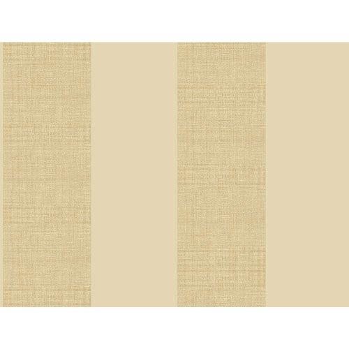 Ashford House Tropics Beige and Warm Beige Grasscloth Stripe Wallpaper
