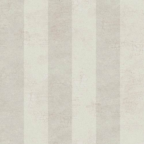 120th Anniversary Silver and Taupe Cottage Stripe Wallpaper