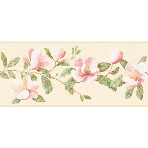 York Wallcoverings Inspired by Color Beige and Pink Wallpaper: Sample Swatch Only