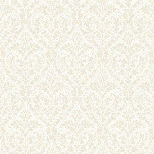 York Wallcoverings Casabella Ii Pale Gold And White Elegant Damask Wallpaper