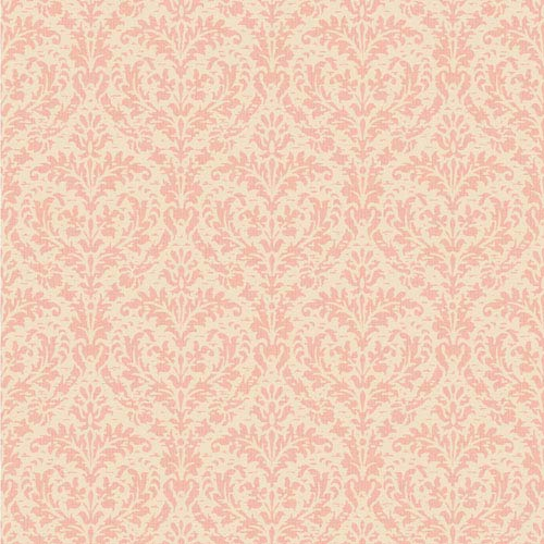 York Wallcoverings Casabella II Blush Pink And Cream Elegant Damask Wallpaper