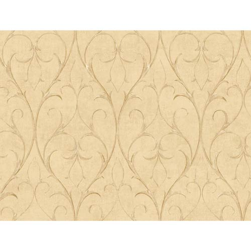 York Wallcoverings Inspired by Color Camel Wallpaper: Sample Swatch Only