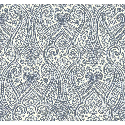 Antonina Vella Blue Kashmir Luxury Paisley Wallpaper