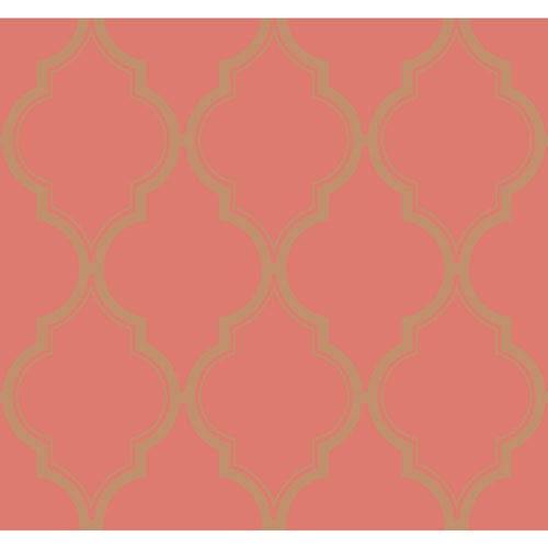 Antonina Vella Orange Kashmir Luxury Trellis Wallpaper