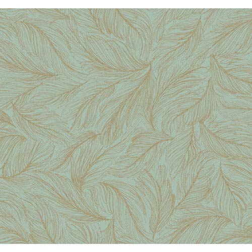 Antonina Vella Blue Kashmir Light As A Feather Wallpaper