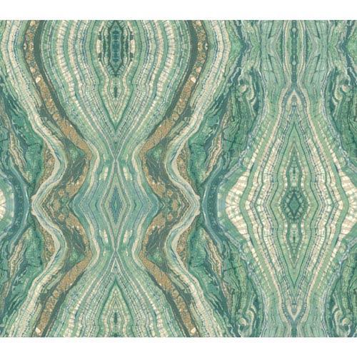 Antonina Vella Green Kashmir Kaleidoscope Wallpaper