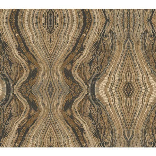 Antonina Vella Brown Kashmir Kaleidoscope Wallpaper