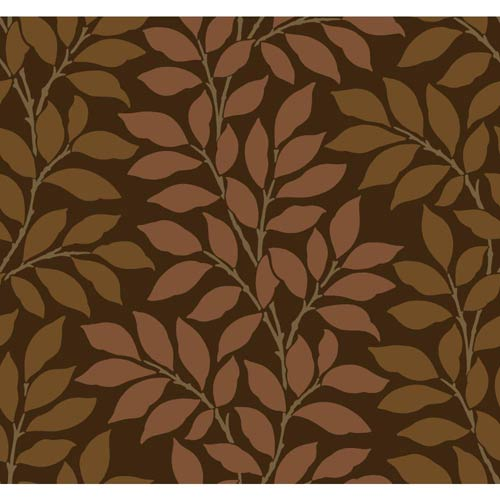 York Wallcoverings Inspired by Color Brown and Copper Wallpaper: Sample Swatch Only