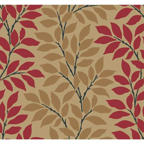 Inspired by Color Gold Metallic and Red Wallpaper