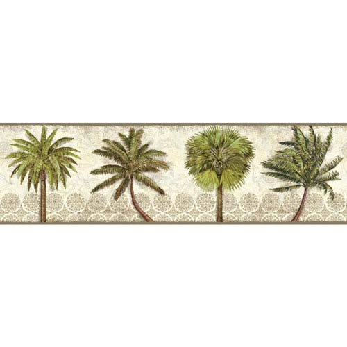 Border Portfolio II Delray Palm Removable Wallpaper Border- Sample Swatch Only