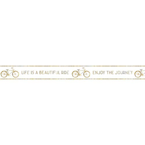 York Wallcoverings Border Portfolio II Life Is Beautiful Removable Wallpaper Border- Sample Swatch Only