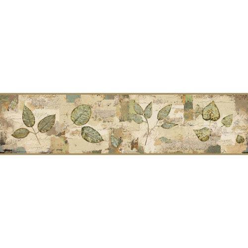 York Wallcoverings Border Portfolio II Pressed Leaves Removable Wallpaper Border