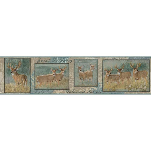 Border Portfolio II Natures Plan Deer Removable Wallpaper Border- Sample Swatch Only