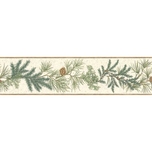 York Wallcoverings Border Portfolio II Conifer Removable Wallpaper Border- Sample Swatch Only