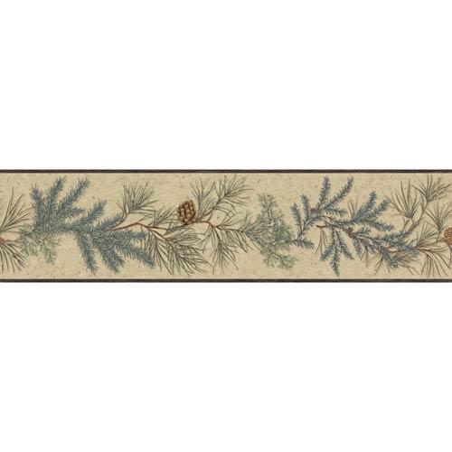 York Wallcoverings Border Portfolio II Conifer Removable Wallpaper Border- Sample Swatch Only