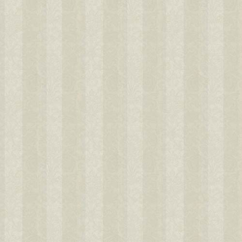 York Wallcoverings Saint Augustine Dove Gray, Warm Gray, Pewter and Silver Glimmer Metallic Stripe Damask Wallpaper: Sample