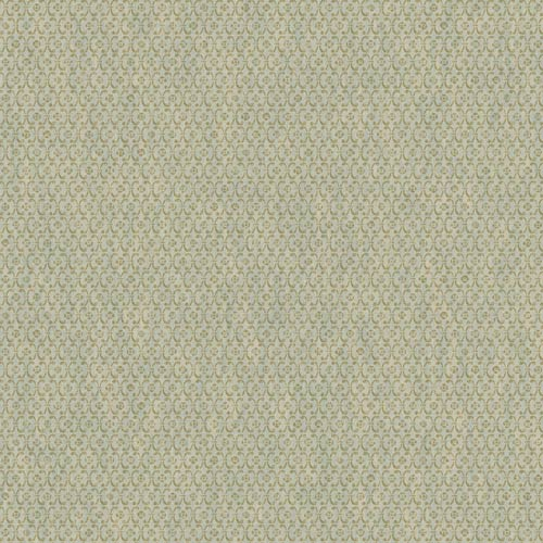 York Wallcoverings Saint Augustine Aqua and Gold Sheen Embroidered Geometric Wallpaper: Sample Swatch Only