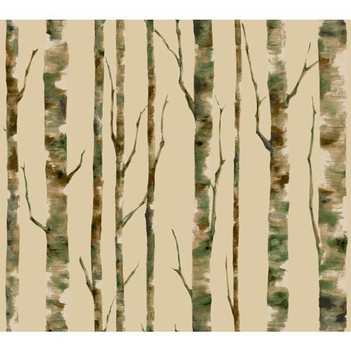 York Wallcoverings Room To Grow Ecru Enchanted Forest Wallpaper : Sample Swatch Only