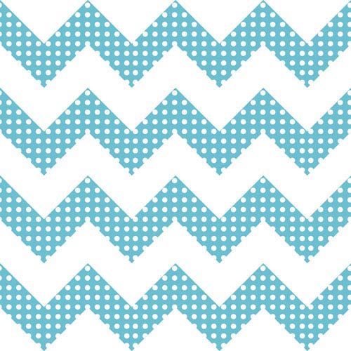 York Wallcoverings Room To Grow Aqua and White Chevron Wallpaper