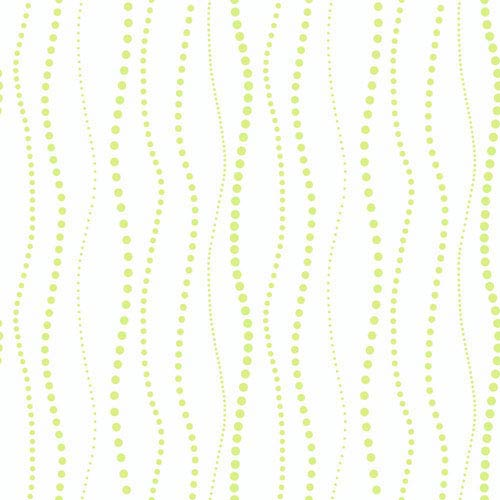York Wallcoverings Room To Grow White And Lime Green Dotty Stripe Wallpaper