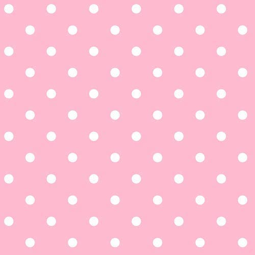 Room To Grow Pink and White Circle Wallpaper