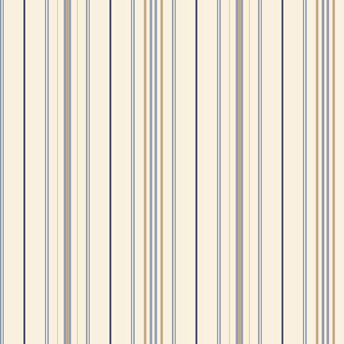 York Wallcoverings Room To Grow White and Blue Wide Pinstripe Wallpaper