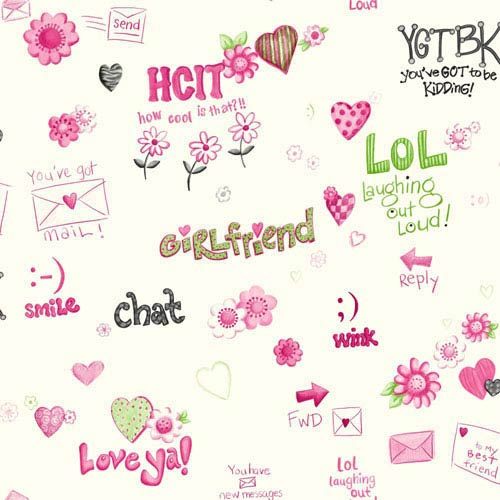 Room To Grow White and Pink Instant Message Wallpaper