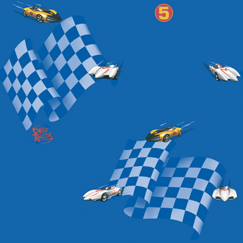 York Wallcoverings Brothers and Sisters Four Speed Racer Wallpaper : Sample Swatch Only