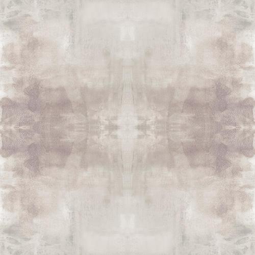 York Wallcoverings Carol Benson-Cobb Ghost Grey and Plum Wallpaper Panel