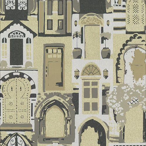 Culture Club Gold and Neutral Wallpaper