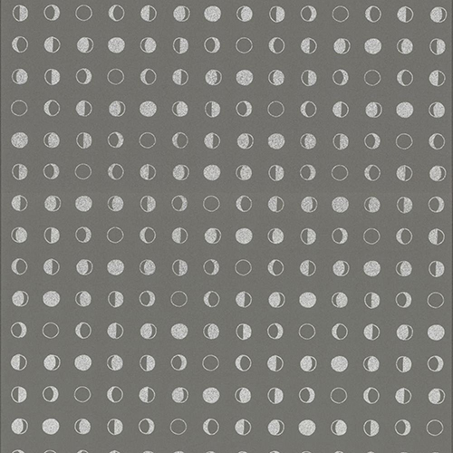 Culture Club Taupe and Silver Circle Wallpaper