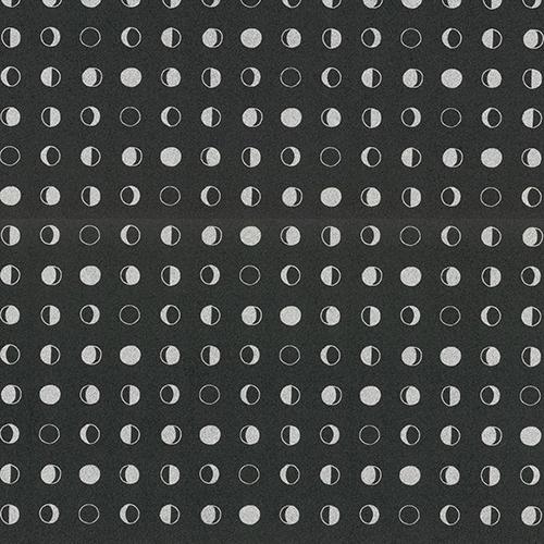 Culture Club Black and Silver Circle Wallpaper