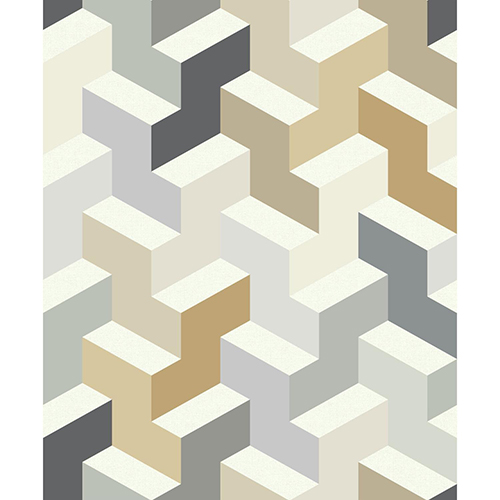 Culture Club Neutral Geometric Wallpaper - SAMPLE SWATCH ONLY