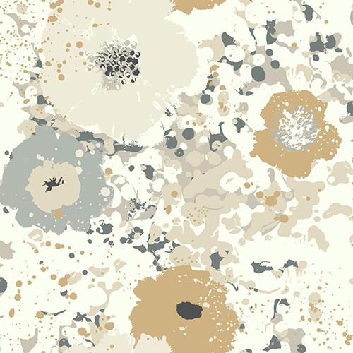 Culture Club Metallic Floral Wallpaper