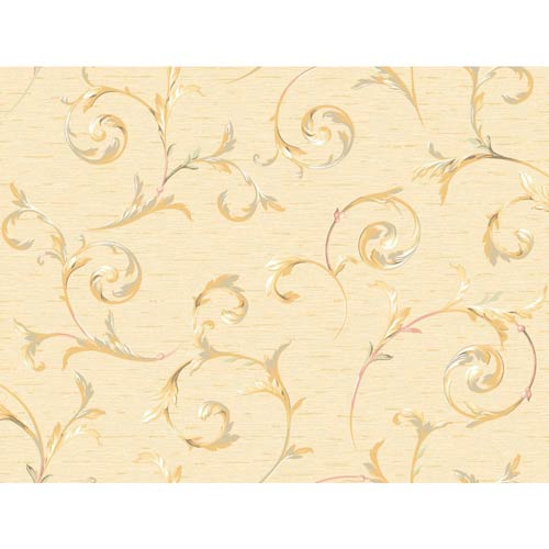 York Wallcoverings Inspired by Color Cream Wallpaper: Sample Swatch Only
