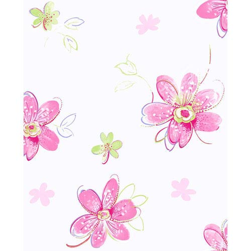 York Wallcoverings Inspired by Color Pastel Bohemian Floral Wallpaper