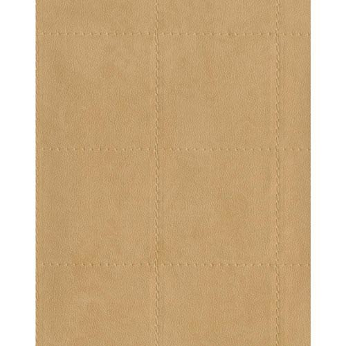 York Wallcoverings Menswear Checkmate Beige Wallpaper-SAMPLE SWATCH ONLY