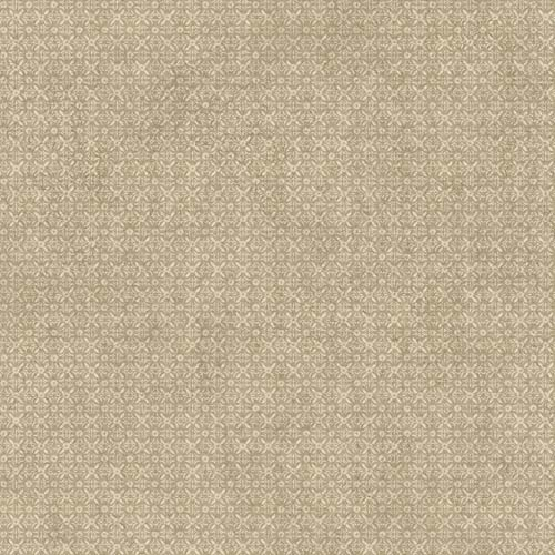 York Wallcoverings Welcome Home Cream, Oyster Grey and Brown Stencil Overall Wallpaper: Sample Swatch Only