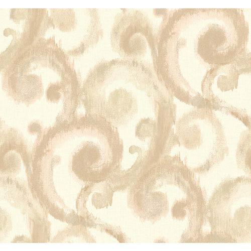 York Wallcoverings Candice Olson Modern Artisan Arabesque Wallpaper: Sample Swatch Only