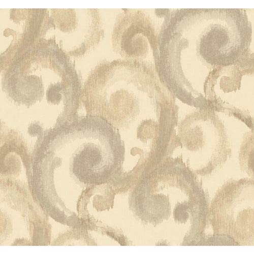 York Wallcoverings Candice Olson Modern Artisan Arabesque Wallpaper: Sample Swatch Only
