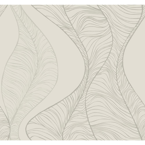 Candice Olson Breathless Hoopla Pearl, Off Whites and Blacks Wallpaper - SAMPLE SWATCH ONLY