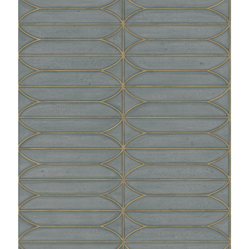 York Wallcoverings Candice Olson Breathless Pavilion Charcoal and Blue Metallics Wallpaper