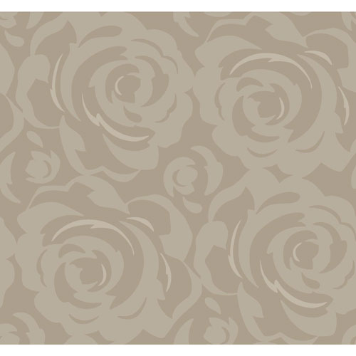 Candice Olson Breathless Lavish Beige and Black Wallpaper - SAMPLE SWATCH ONLY