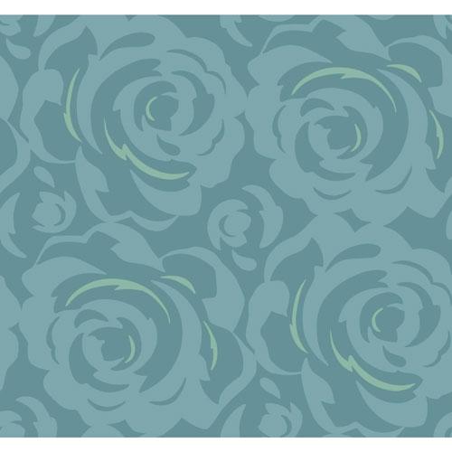 York Wallcoverings Candice Olson Breathless Lavish Blue Wallpaper